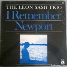 Discos de vinilo: THE LEON SASH TRIO. I REMEMBER NEWPORT. DELMARK, USA 1968 LP (PRECINTADO). Lote 278534738