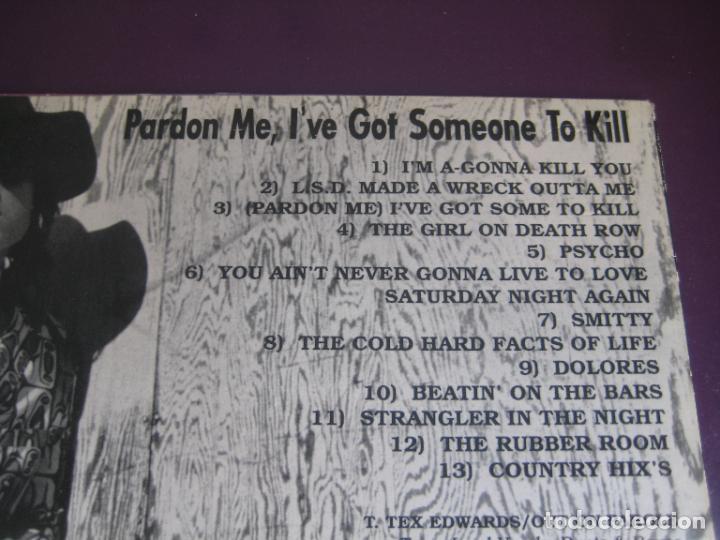 Discos de vinilo: Tex Edwards & Out On Parole – Pardon Me, Ive Got Someone To Kill - lp new rose 1990 COUNTRY ROCK - Foto 3 - 278536323