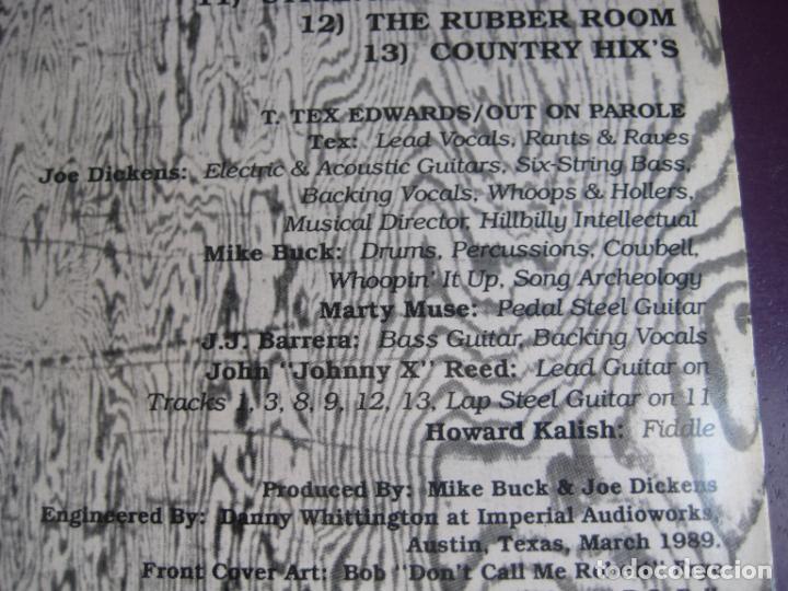 Discos de vinilo: Tex Edwards & Out On Parole – Pardon Me, Ive Got Someone To Kill - lp new rose 1990 COUNTRY ROCK - Foto 4 - 278536323