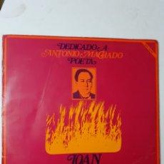 Discos de vinilo: JOAN MANUEL SERRAT. DEDICADO A ANTONIO MACHADO. GATEFOLD. 1989. NLX-1015 S. VG VG. Lote 278541238