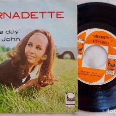 Discos de vinilo: BERNADETTE. MANY A DAY. SINGLE ESPAÑA 1969. Lote 278547353