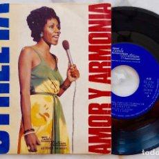 Discos de vinilo: SYREETA. AMOR Y ARMONIA. SINGLE ESPAÑA 1975. Lote 278547423