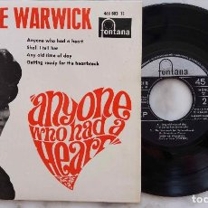 Discos de vinilo: DIONNE WARWICK. ANYONE WHO HAD A HEART + 3 EP ORIGINAL ESPAÑA 1964. Lote 278547468