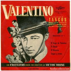 Discos de vinilo: THE CASTILIANS - VALENTINO. SELECCIÓN DE TANGOS Nº 1 - EP SPAIN. Lote 278552928