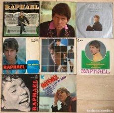 Discos de vinilo: RAPHAEL. LOTE 8 SINGLES. VER FOTOS. Lote 278555063