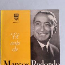 Discos de vinilo: LP EL ARTE DE MARCOS REDONDO. Lote 278555683