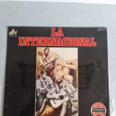Discos de vinilo: LP DE LA INTERNACIONAL, CONTIENE PÓSTER ORIGINAL. Lote 278557408