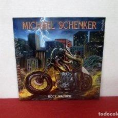 Discos de vinilo: MICHAEL SCHENKER - ROCK MACHINE - LP - METAL BASTARD ENTERPRISES 2021 - NUEVO PRECINTADO. Lote 278560538