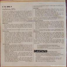 Discos de vinilo: EP HELMUT BARBE - HALLELUJA BILLY +5 - T 72 096 - GERMANY PRESS (EX/VG++) TRICENTER. Lote 278576933