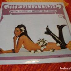 Disques de vinyle: ANTONIO CARLOS JOBIM LP MEDITATION RITMO BRASILEÑO VERVE ORIGINAL ESPAÑA 1969 LAMINADO. Lote 278585818