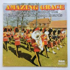 Discos de vinilo: THE MILITARY BAND OF THE ROYAL SCOTS DRAGOON GUARDS - AMAZING GRACE GERMANY,1972 RCA. Lote 278596233