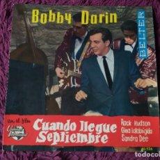 """Discos de vinilo: BOBBY DARIN – CUANDO LLEGUE SEPTIEMBRE ,VINYL 7"""", EP 1962 SPAIN 50.526. Lote 278600293"""