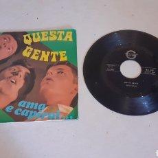 Discos de vinilo: GEN ROSSO - QUESTA GENTE - SINGLE - ITALIA - PR -. Lote 278611228