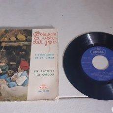 Discos de vinilo: CONTES DE LA VORA DEL FOC - L'ESCOLANET DE LA VERGE / EN PATUFET I ELS CARGOLS - SINGLE - SPAIN - PR. Lote 278614483