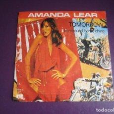 Discos de vinilo: AMANDA LEAR – TOMORROW / LA REINA DEL BARRIO CHINO - SG ARIOLA 1978 - DISCO ELECTRONICA GAY 70'S. Lote 278616198