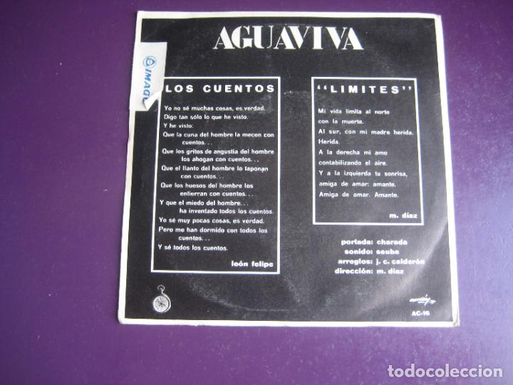 Discos de vinilo: Aguaviva – Los Cuentos / Límites - Sg ACCION 1970 - PSICODELIA FOLK ROCK 70S - PEPE NIETO - Foto 2 - 278617608