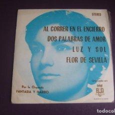 Discos de vinilo: ORQUESTA FANTASIA Y NARBO – AL CORRER EN EL ENCIERRO - EP BCD 1974 - LATIN POP ORQUESTAS LOUNGE. Lote 278619318