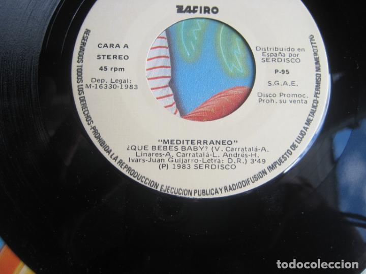 Discos de vinilo: Mediterraneo - Dime Qué Bebes - Sg ZAFIRO 1983 PROMO - PUBLICIDAD VODKA SMIRNOFF - DISCO POP 80S - Foto 4 - 278626948
