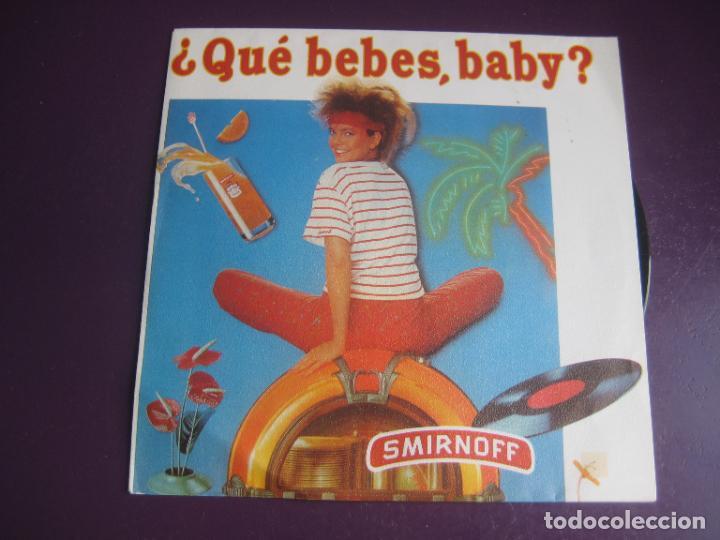 MEDITERRANEO - DIME QUÉ BEBES - SG ZAFIRO 1983 PROMO - PUBLICIDAD VODKA SMIRNOFF - DISCO POP 80'S (Música - Discos - Singles Vinilo - Grupos Españoles de los 70 y 80)