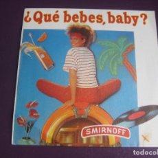 Discos de vinilo: MEDITERRANEO - DIME QUÉ BEBES - SG ZAFIRO 1983 PROMO - PUBLICIDAD VODKA SMIRNOFF - DISCO POP 80'S. Lote 278626948