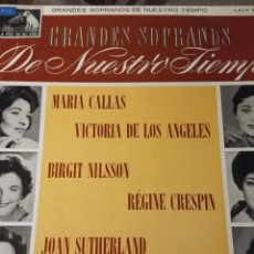 Discos de vinilo: VINILO GRANDES SOPRANOS DE NUESTRO TIEMPO. Lote 278629023