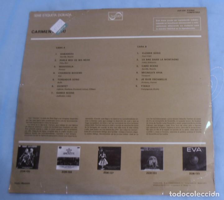 Discos de vinilo: FRAGMENTOS DE CARMEN BIZET, SERIE ETIQUETA DORADA - Foto 2 - 278629043