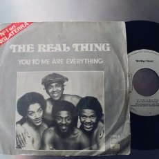 Discos de vinilo: THE REAL THING-SINGLE YOU TO ME ARE EVERYTHING. Lote 278640088