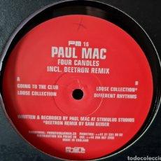 Discos de vinilo: MAXI - PAUL MAC - FOUR CANDLES - 2000 - SUIZA. Lote 278674223