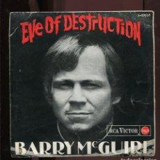 Discos de vinilo: BARRY MCGUIRE. EVE OF DESTRUCTION. RCA VICTOR 1965. EP.. Lote 278686963