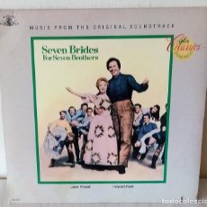 Discos de vinilo: SEVEN BRIDES FOR SEVEN BROTHERS - ORIGINAL SOUNDTRACK MCA EDIC. AMERICANA - 1986. Lote 278687388