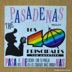 Discos de vinilo: THE PASADENAS / GLORIA ESTEFAN - MEDLEY / 1 2 3 MIX - SINGLE. Lote 278691508