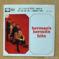Discos de vinilo: HERMAN´S HERMITS - JUST A LITTLE BIT BETTER + 3 - EP. Lote 278692013