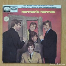 Discos de vinilo: HERMAN´S HERMITS - MRS. BROWN YOU´VE GOT A LOVELY DAUGHTER + 3 - EP. Lote 278692093
