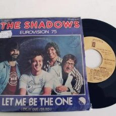 Discos de vinilo: THE SHADOWS-SINGLE LET ME BE THE ONE-EUROVISION 75. Lote 278693458