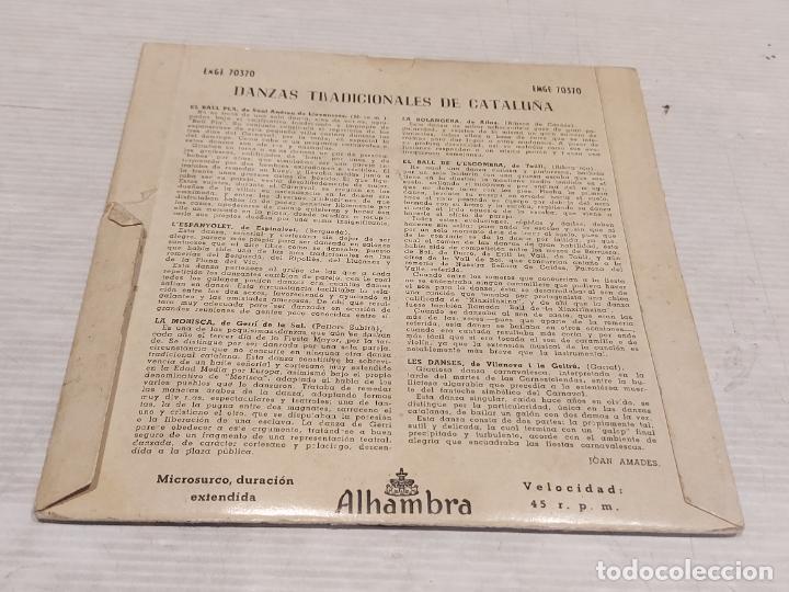 Discos de vinilo: COBLA BARCELONA / DANZAS TRADICIONALES DE CATALUÑA / EP-ALHAMBRA-1957 / MBC. ***/*** - Foto 2 - 278693753