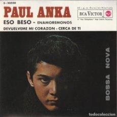 Discos de vinilo: PAUL ANKA - ESO BESO + 3 (EP RCA VICTOR 1963 ESPAÑA) COMO NUEVO. Lote 278696333