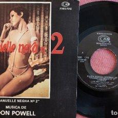 Discos de vinilo: SINGLE DON POWELL - EMANUELLE NERA N° 2 - ZDBO-7512 - SPAIN PRESS (EX-/EX++) BSO. Lote 278704523