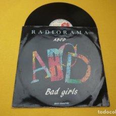 "Discos de vinilo: 12"" RADIORAMA - ABCD / BAD GIRLS - ITALY - RA 88.03 (VG+/VG) 3. Lote 278754183"