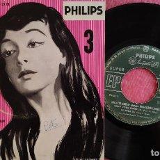 Discos de vinilo: EP JULIETTE GRECO CANTA FRANÇOISE SAGAN - SANS VOUS AIMER +3 - PHILIPS 432.121 BE - FRANCE (G/VG++). Lote 278754663