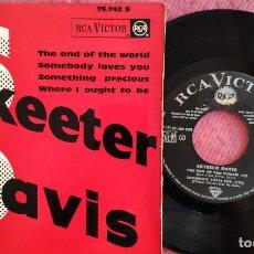 Discos de vinilo: EP SKEETER DAVIS - THE END OF THE WORLD +3 - RCA 75742 S - FRANCE PRESS (VG++/VG++). Lote 278755548