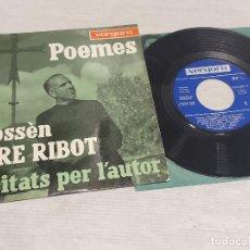 Discos de vinilo: POEMES DE MOSSÈN PERE RIBOT / RECITATS PER L'AUTOR / EP-VERGARA-1963 / MBC. ***/***. Lote 278755883