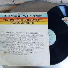 Discos de vinilo: THE SONGS OF LENNON & MCCARTNEY-LP DOBLE THE WORLDS GREATEST ROCK ARTISTS. Lote 278762533