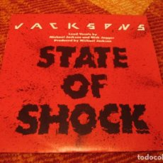 Discos de vinilo: JACKSONS MICHAEL JACKSON MICK JAGGER SINGLE STATE OF SHOCK EPIC A UNA CARA PROMOCIONAL ESPAÑA 1984. Lote 278763418