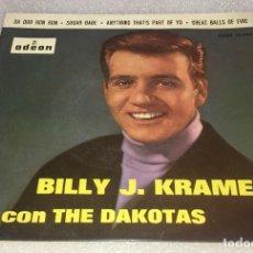 Discos de vinilo: EP BILLY J. KRAMER CON THE DAKOTAS - DA DOO RON RON - ODEON DSOE 16.584 - PEDIDO MINIMO 7€. Lote 278764428