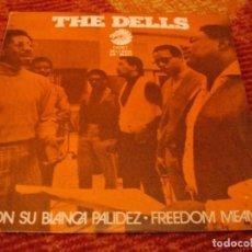 Discos de vinilo: THE DELLS SINGLE CON SU BLANCA PALIDEZ CADET ESPAÑA 1971. Lote 278765698