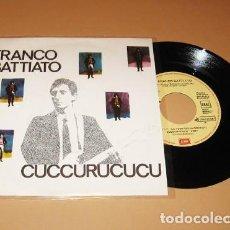 Discos de vinilo: FRANCO BATTIATO - CUCCURUCUCU - PROMO SINGLE - 1982. Lote 278766113