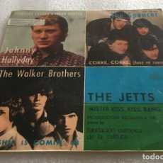 Discos de vinilo: EP JOHNNY HALLYDAY - THE SPENCER - THE WALKER BROTHERS - THE JETTS - PEDIDO MINIMO 7€. Lote 278793558