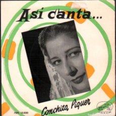 Discos de vinilo: CONCHITA PIQUER - ASI CANTA.../ EP LA VOZ DE SU AMO / BUEN ESTADO RF-4926. Lote 278794538