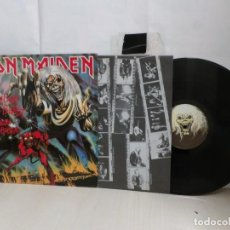 Discos de vinilo: IRON MAIDEN --THE NUMBER OF THE BEAST--MADRID-1982--EMI ODEON-. Lote 278798133
