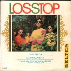 Discos de vinilo: LOS STOP - CASI NADA, MI CARAVANA, CON SU BLANCA PALIDEZ / EP BELTER / BUEN ESTADO RF-4943. Lote 278799248